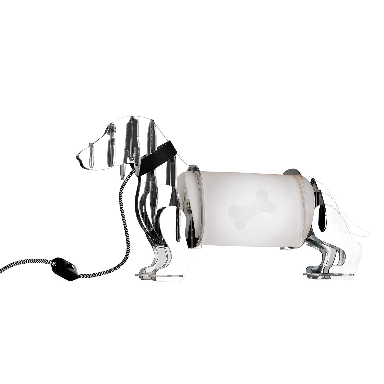 Tischleuchte Eldog ● Kunststoff ● Chrom- Sompex A++