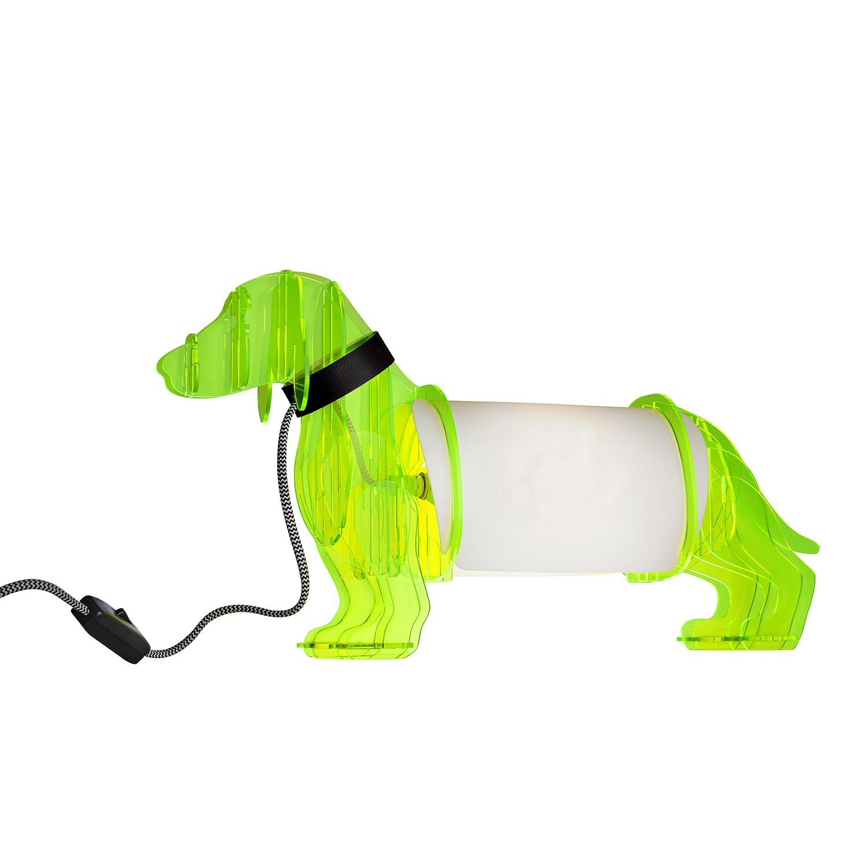 Tischleuchte Eldog ● Kunststoff ● Neongelb- Sompex A++