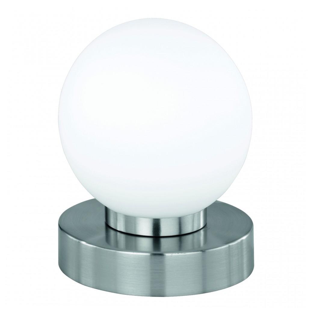 Tischleuchte Ferrara ● Touch Me Dimmer ● Nickel matt ● Glas opal weiß- Mendler C
