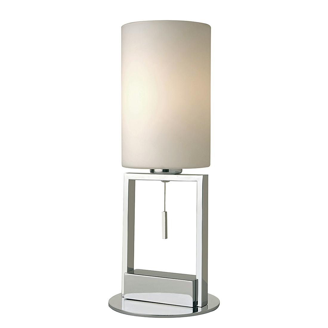 EEK A++, Tischleuchte Fine – Silber/Weiß – 1-flammig, Sompex günstig online kaufen