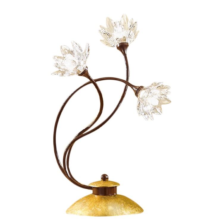 Tischleuchte Fiorella Gold ● Metall/Glas ● Rost-Antik/Gold ● 3-flammig- Hans Kögl A