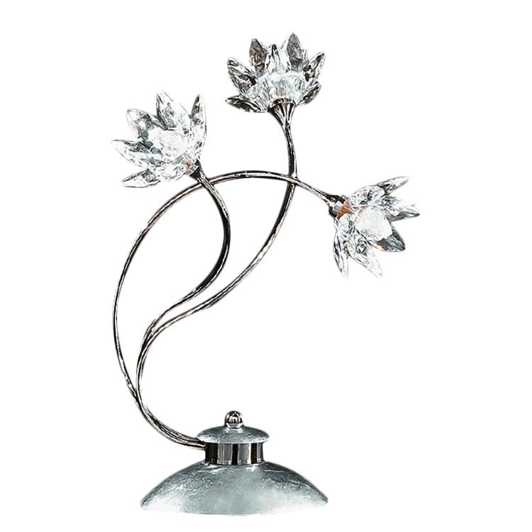 Tischleuchte Fiorella Silber ● Metall/Glas ● Silber ● 3-flammig- Hans Kögl A