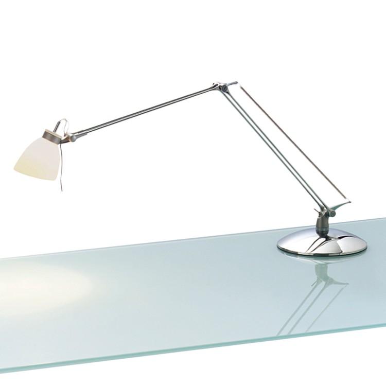 Tischleuchte Hera ● Metall/Kunststoff ● Silber ● 1-flammig- Blanke Design