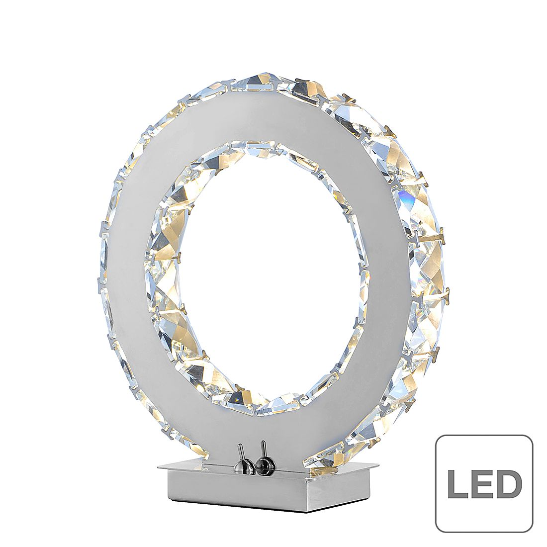 LED-Tischleuchte Jola ● Chrom/ Kristall ● Silber- Paul Neuhaus A+