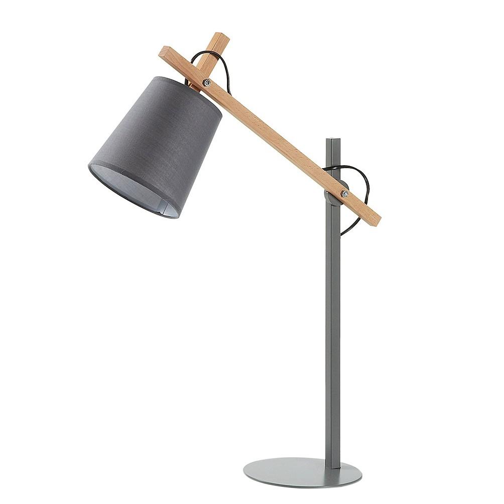 Tischleuchte Kosta II ● Stoff/Metall/Holz ● 1-flammig- Julia A++