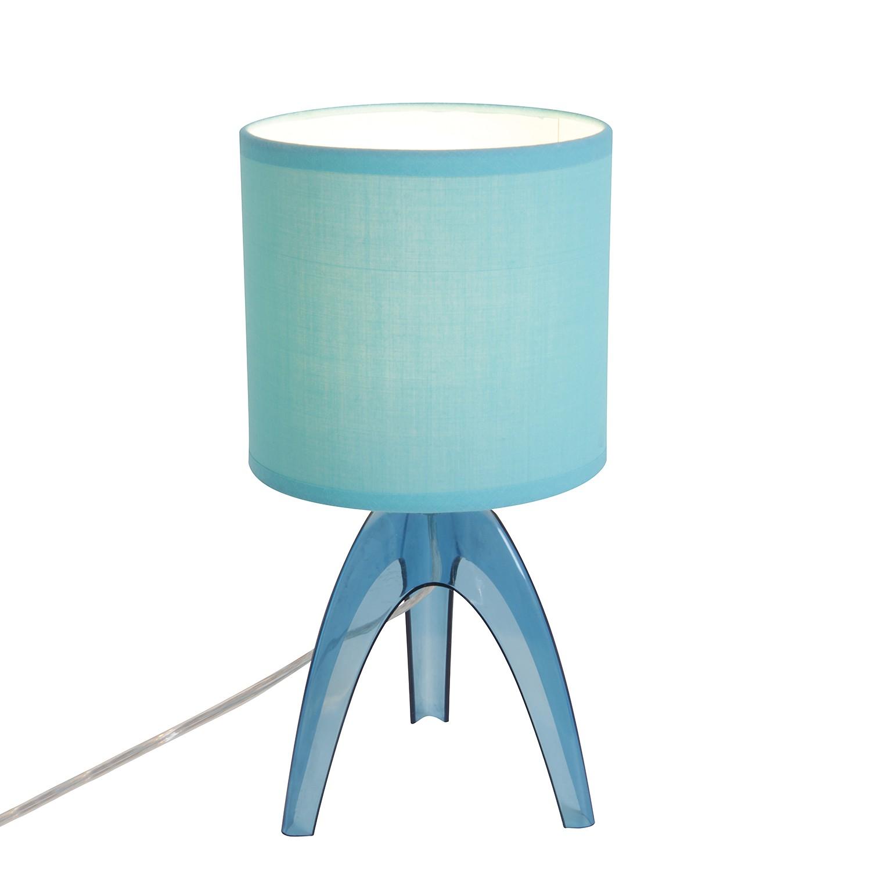 Tischleuchte ● Kunststoff/Stoff ● Blau ● 1-flammig- Näve A++