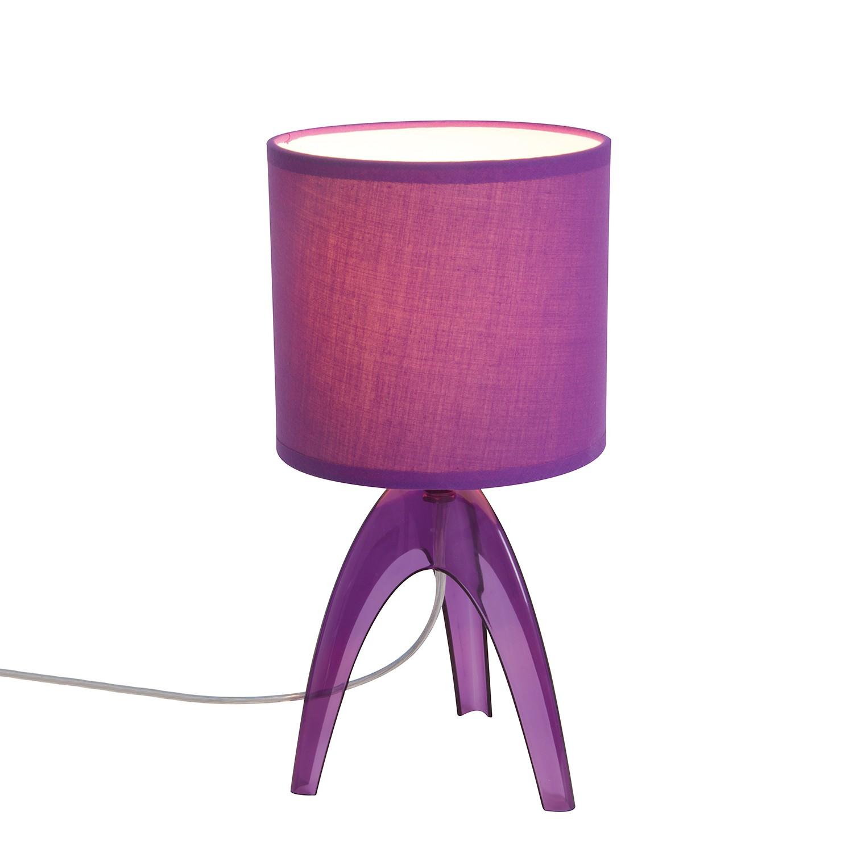 Tischleuchte ● Kunststoff/Stoff ● Violett ● 1-flammig- Näve A++