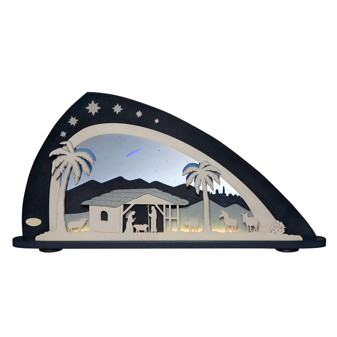 EEK A+, Tischleuchte LED Schwibbogen – Holz/Kunststoff – Grau, Weigla online kaufen