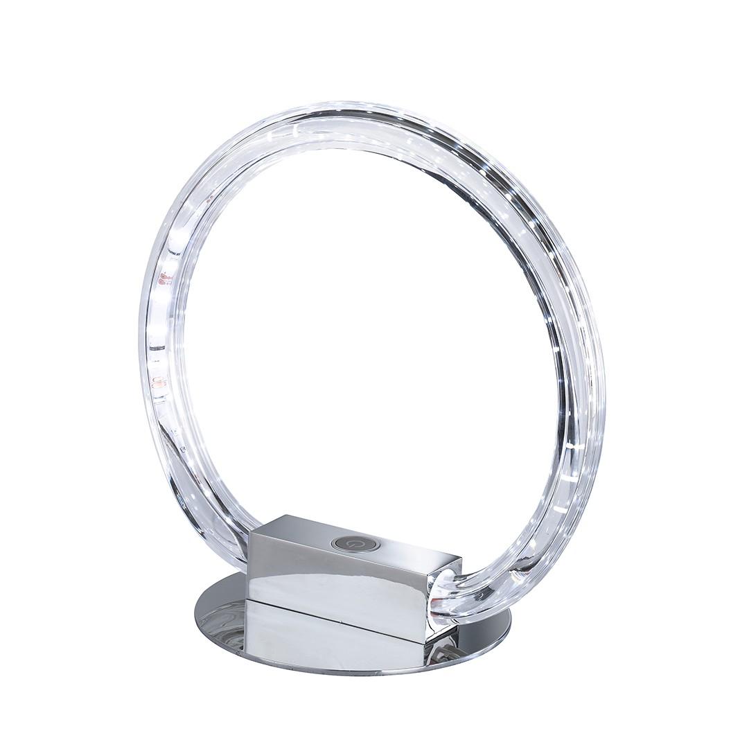 EEK A+, Tischleuchte LUND – Metall – Silber – 1-flammig, Action kaufen
