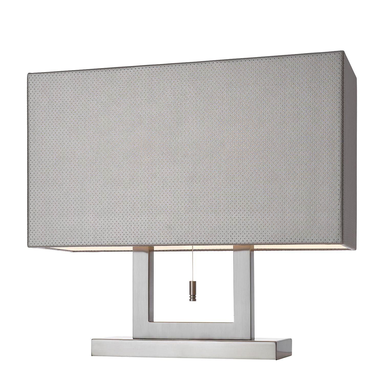 Tischleuchte Marrakesch ● Metall/Kunstleder ● Silber Satin- Villeroy und Boch A++