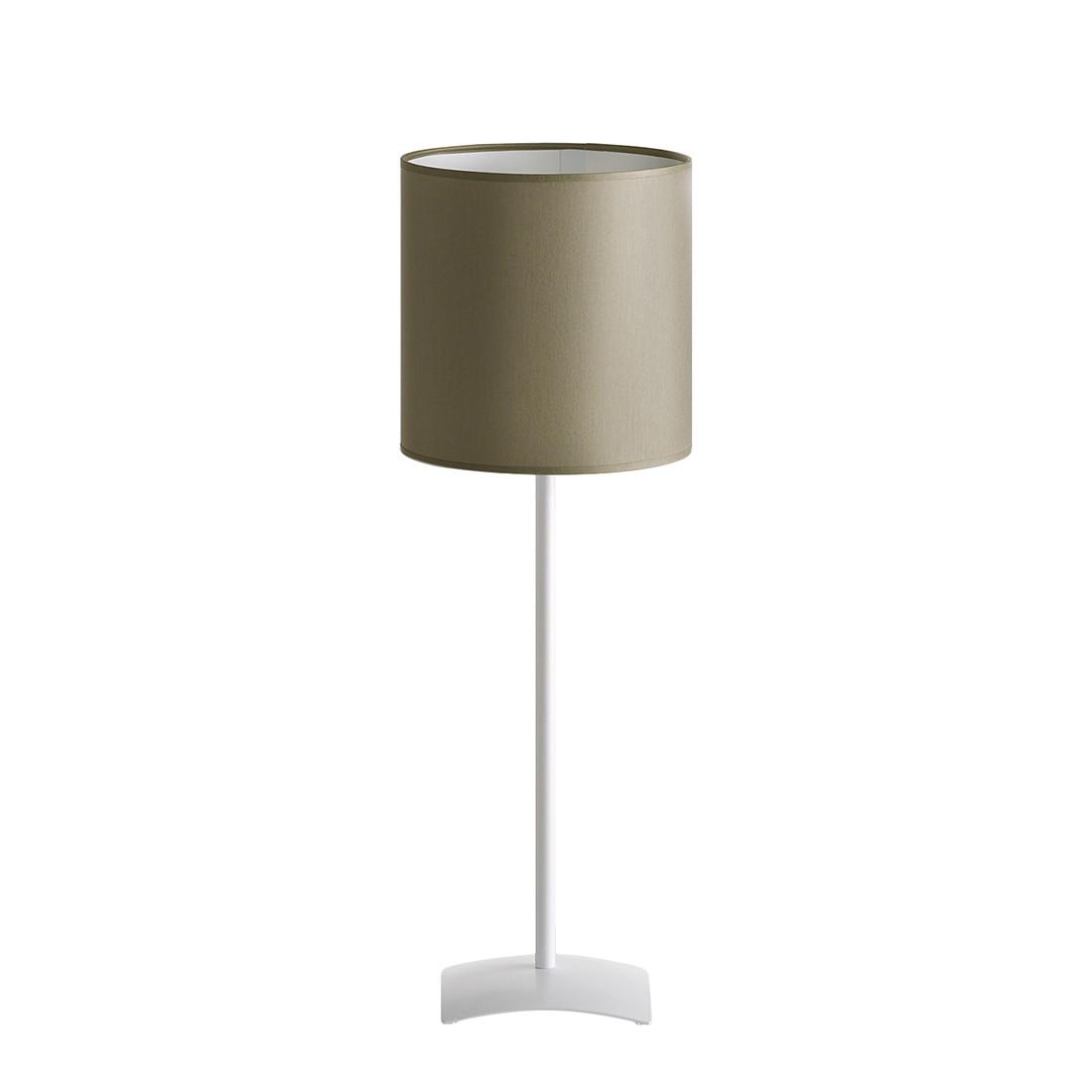 Energiespar-Tischleuchte Melody ● Metall ● Weiß / Grau ● 1-flammig- Blanke Design A++