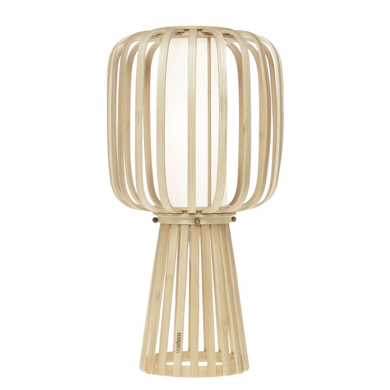 Tischleuchte Moolin ● Bambus ● Beige ● 35 cm- lasfera