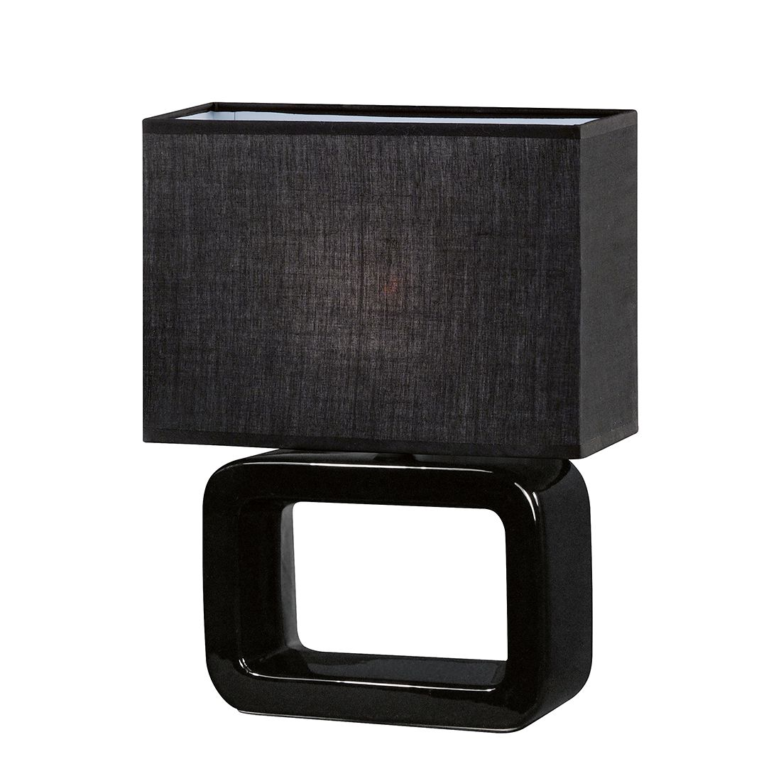 Tischleuchte Nea Keramik Schwarz ● 1-flammig- Honsel A++