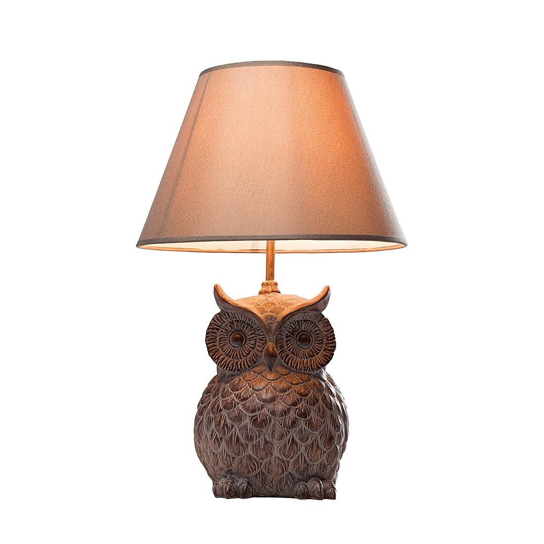 eek a tischleuchte owl grau braun kare design jetzt kaufen. Black Bedroom Furniture Sets. Home Design Ideas