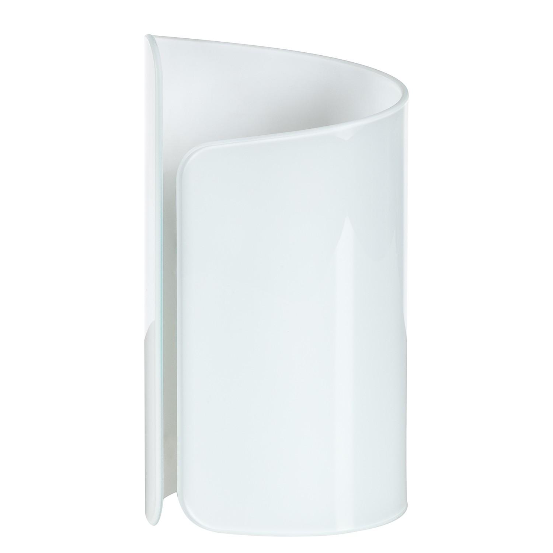 Tischleuchte Papiro ● Glas/Metall ● Weiß ● 1-flammig- Lampadina A+