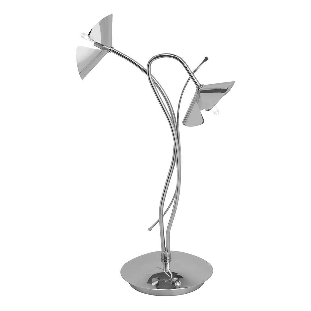 Tischleuchte Sicilia ● Metall ● Silber ● 2-flammig- Brilliant B