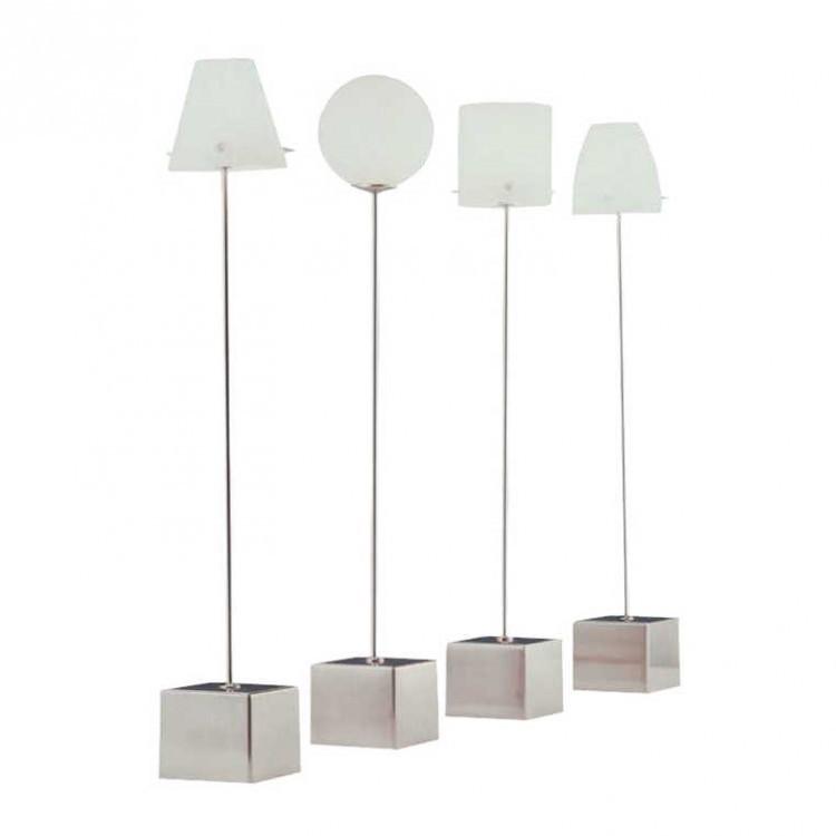 Tischleuchte Slim Zylinder ● Silber/Weiß ● 1-flammig- Sompex A++