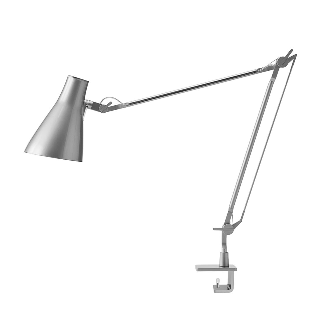 Tischleuchte Solus 2 ● Metall/Kunststoff ● Grau ● 1-flammig- Blanke Design A+