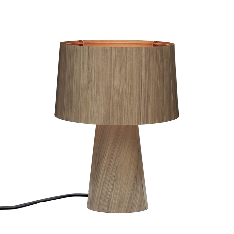 Tischleuchte Sophie ● Holz ● Walnuss/Kupfer- lasfera
