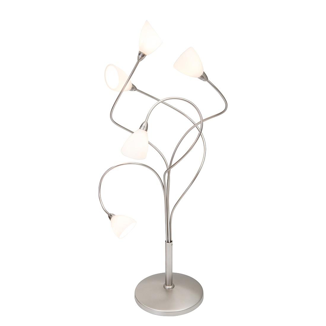 Tischleuchte Tarda 5-flammig ● Nickel matt- Steinhauer A++
