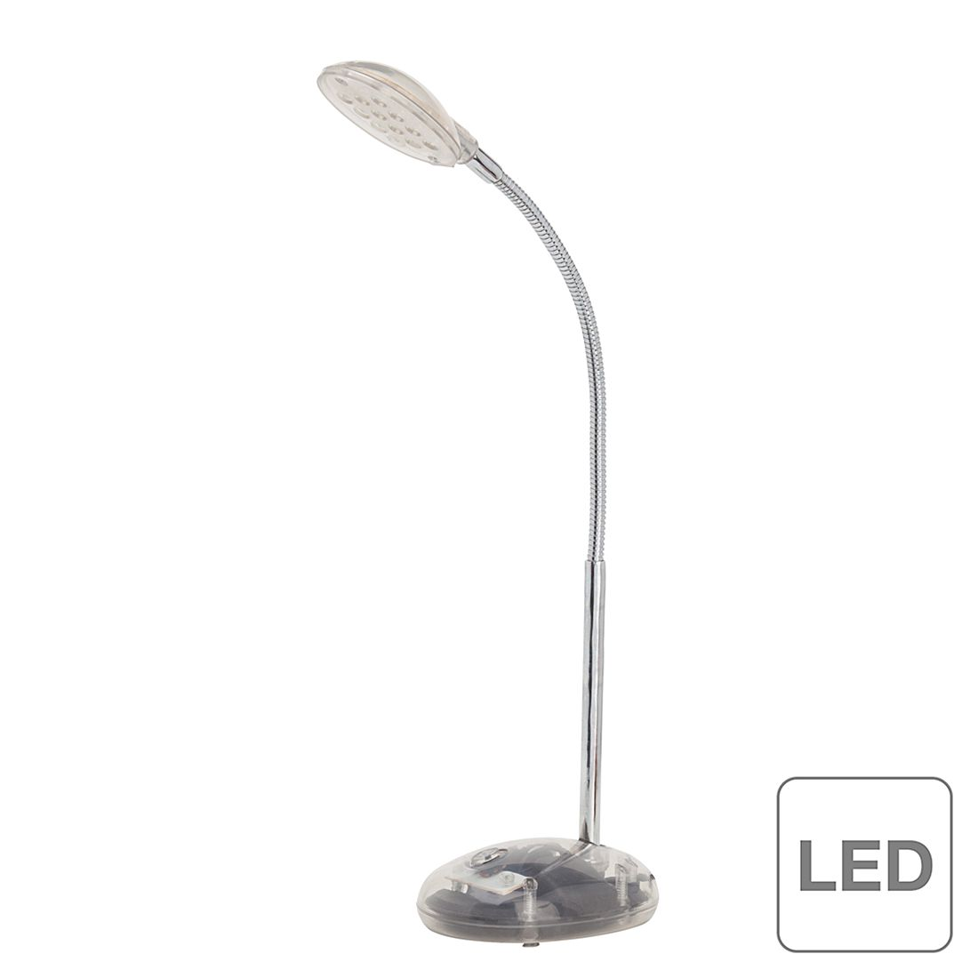 LED-Tischleuchte Timmi ● Metall / Kunststoff ● 1-flammig ● Transparent- Brilliant A+