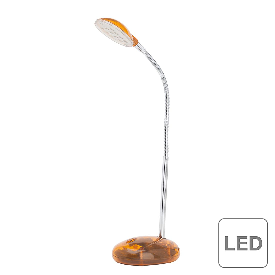 LED-Tischleuchte Timmi ● Metall / Kunststoff ● 1-flammig ● Orange- Brilliant A+