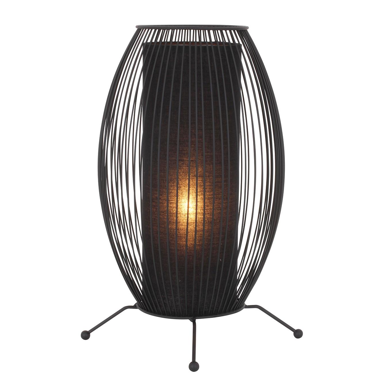 Tischleuchte Wired ● Metall/Textil ● Schwarz ● 1-flammig- Näve A++