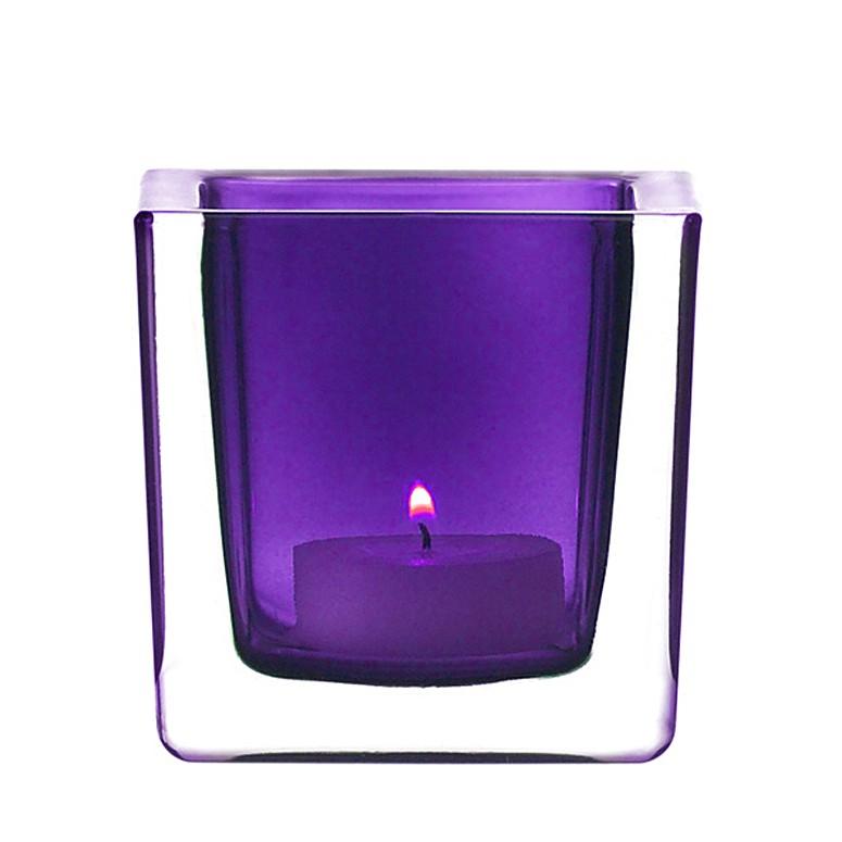 Tischlicht Cube (2er-Set) – Lila, Leonardo online kaufen