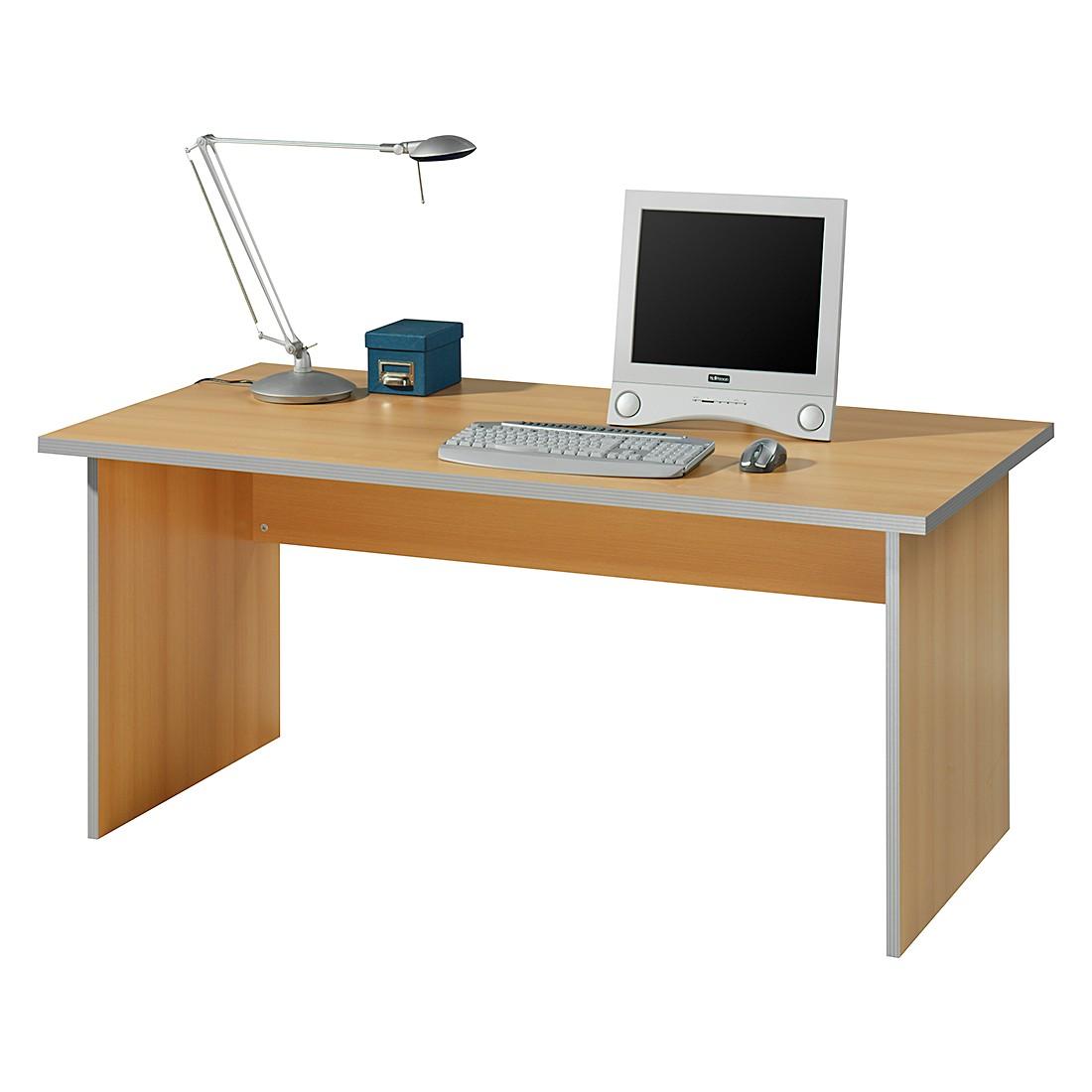 Schreibtisch Kirk III – Buche Dekor – Tischplatte: 80 x 80 cm, Wellemöbel günstig bestellen