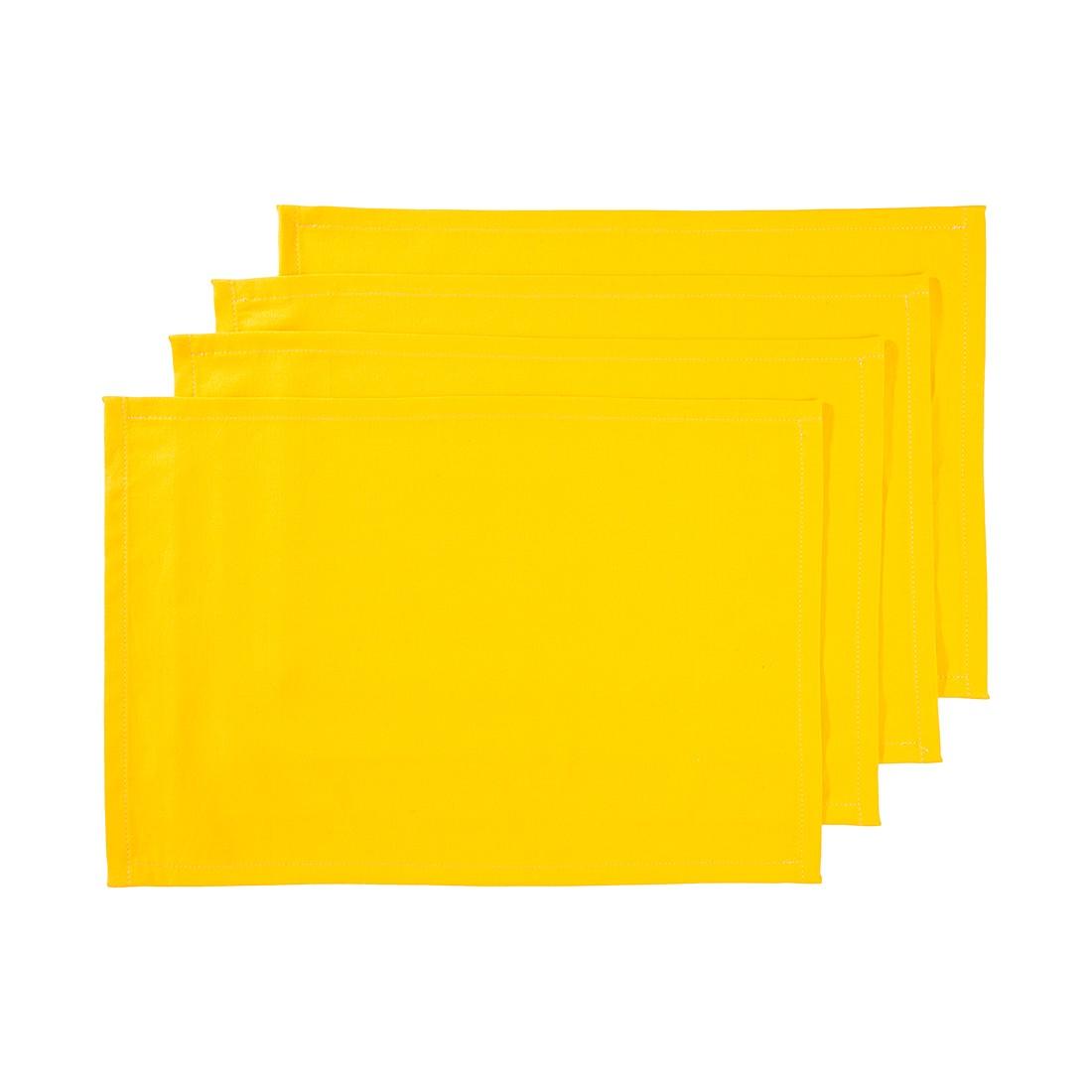 Tischset (4er-Set) – Sonnengelb, Home24Deko günstig online kaufen