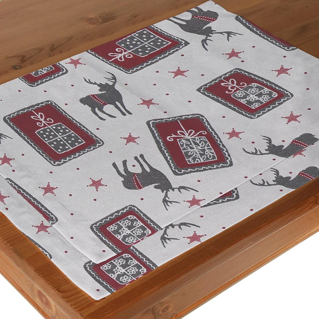 Tischset Weihnachtstisch (2-er Set), Dekoria günstig kaufen
