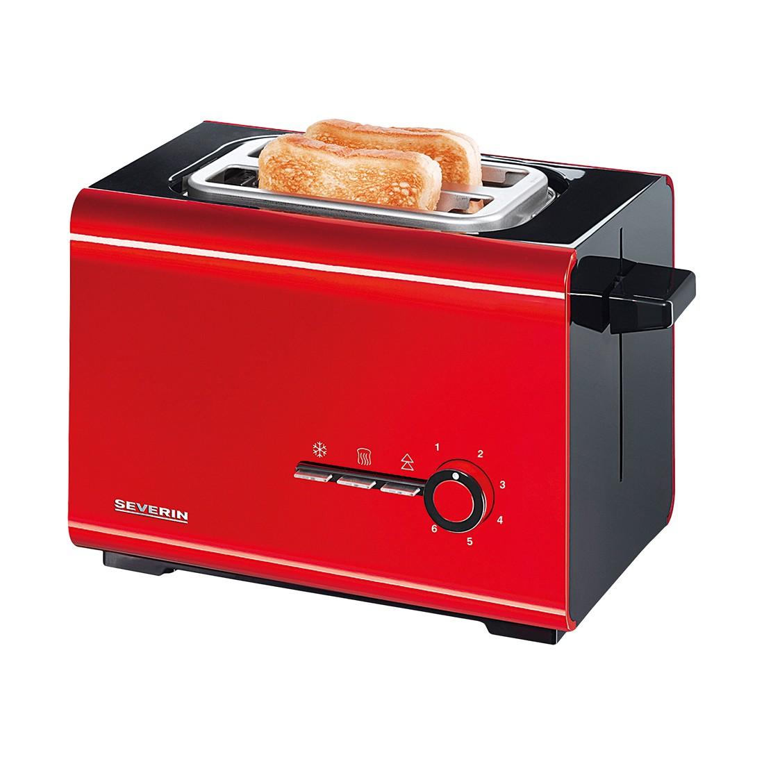 Toaster Style AT 2507 – Kunststoff Schwarz, Rot, Severin online kaufen