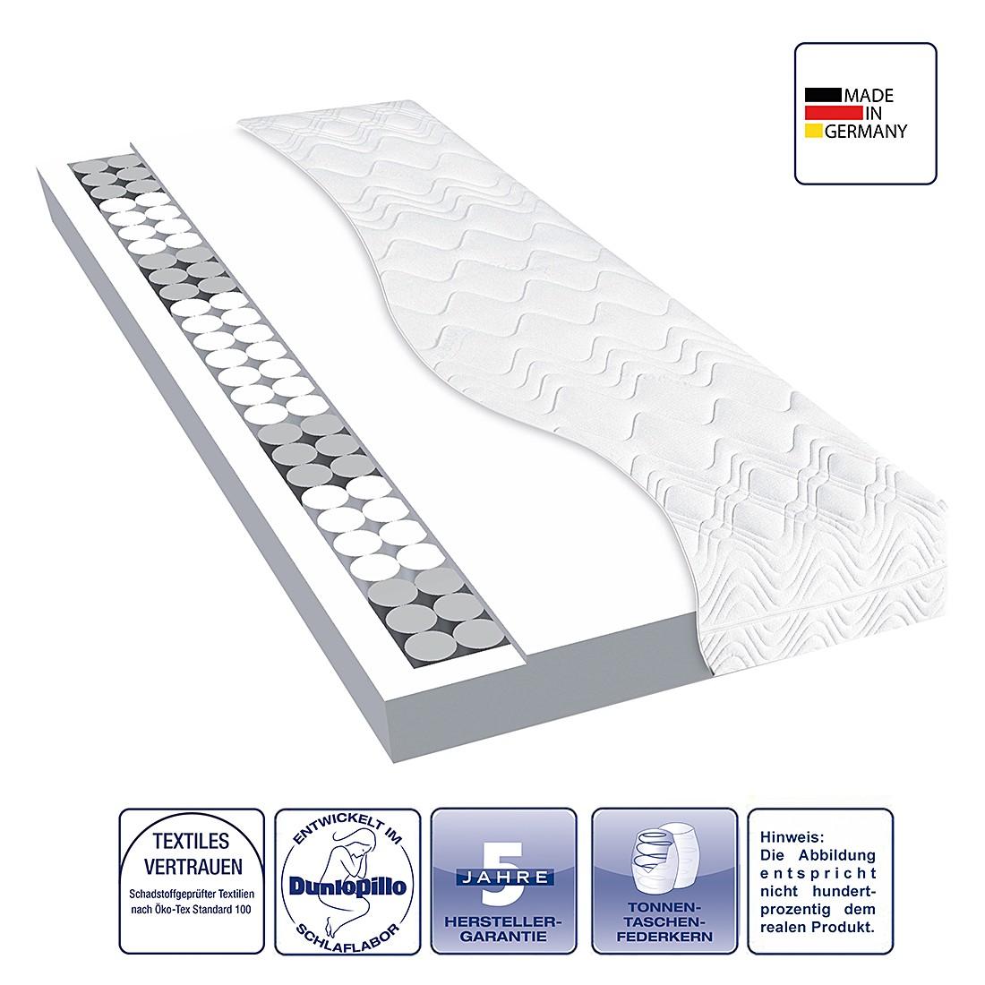 taschenfederkernmatratze aqualite 2500 80 x 200cm h2 bis 80 kg dunlopillo g nstig. Black Bedroom Furniture Sets. Home Design Ideas