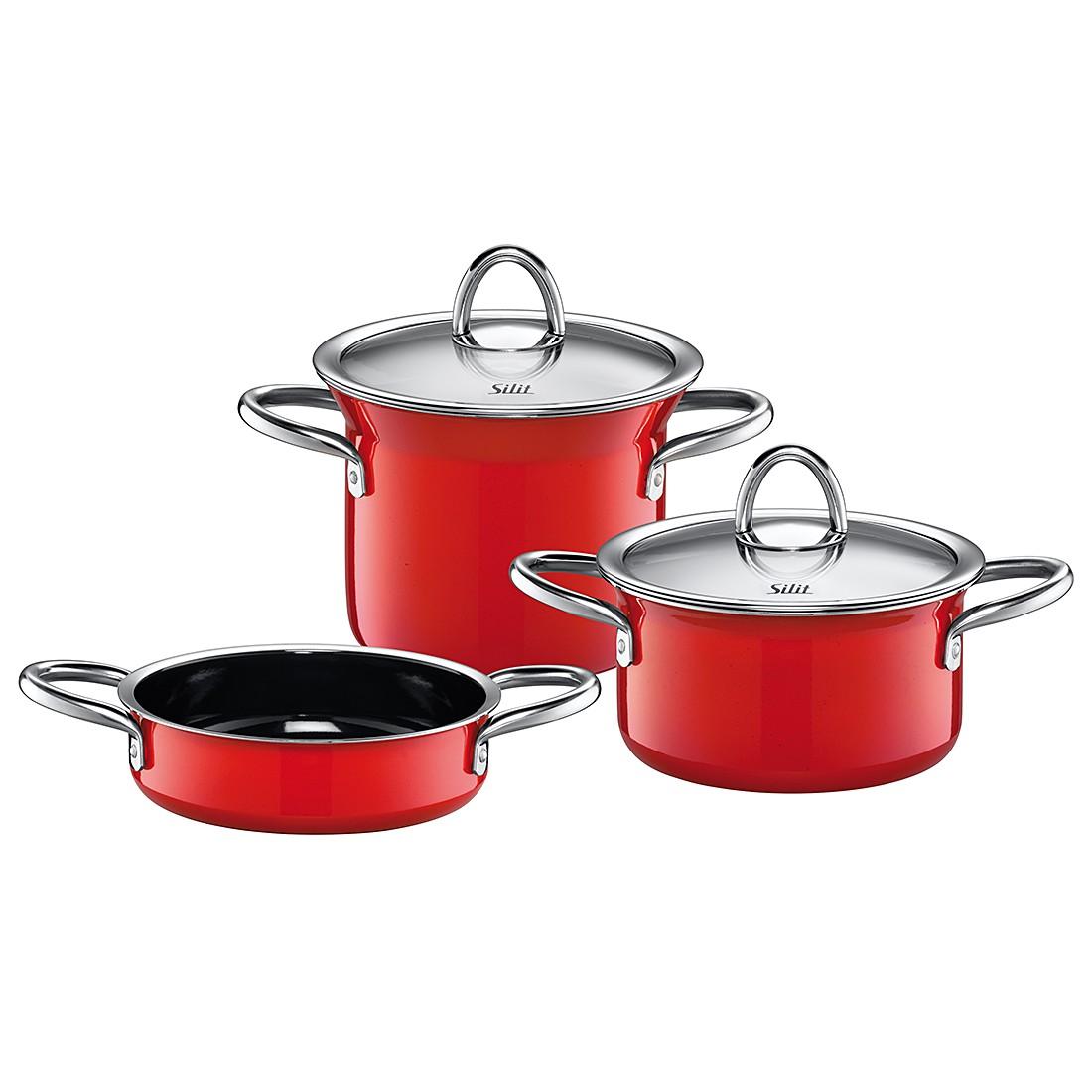 Topf-Set (3-teilig) miniMAX Energy Red, Silit jetzt kaufen