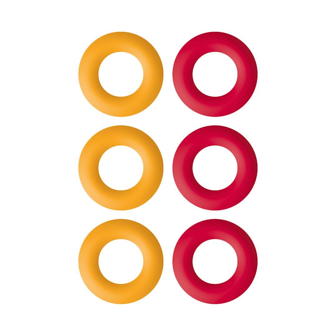 Topfuntersetzer Eierbecher (6er-Set) – Rot/Orange, Contento bestellen
