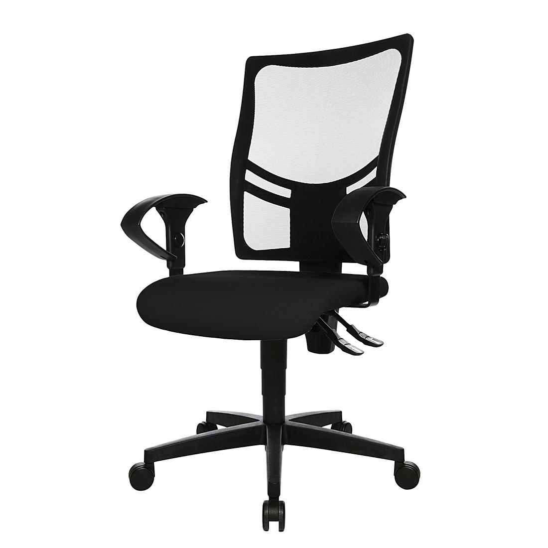 Bürodrehstuhl Net Point 10 - Mit Armlehnen - Schwarz, Topstar