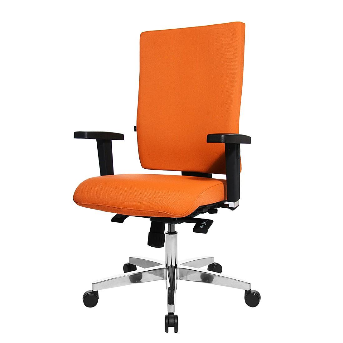 Bürodrehstuhl Lightstar 20 - Mit Armlehnen - Orange, Topstar