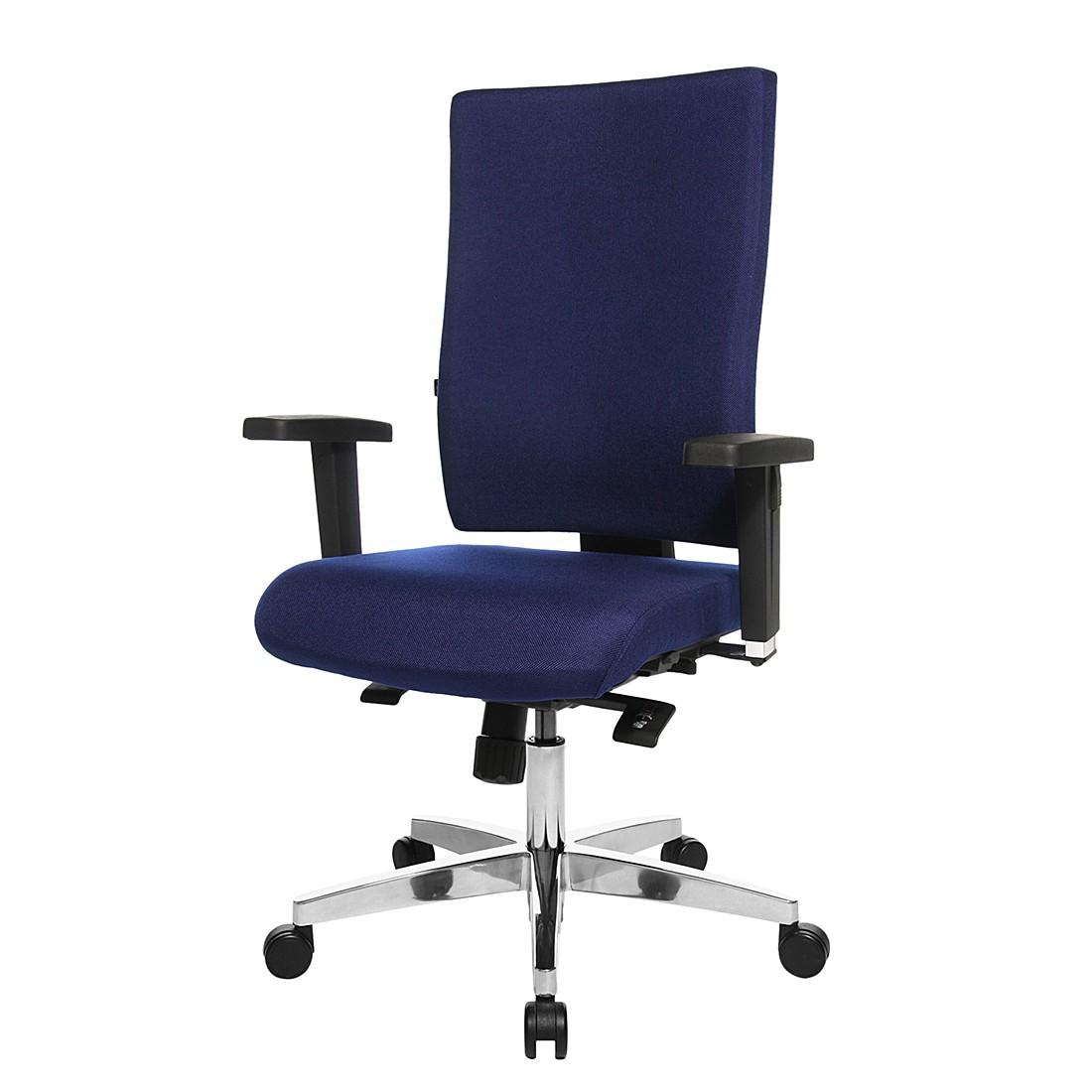 Bürodrehstuhl Lightstar 20 - Mit Armlehnen - Blau, Topstar