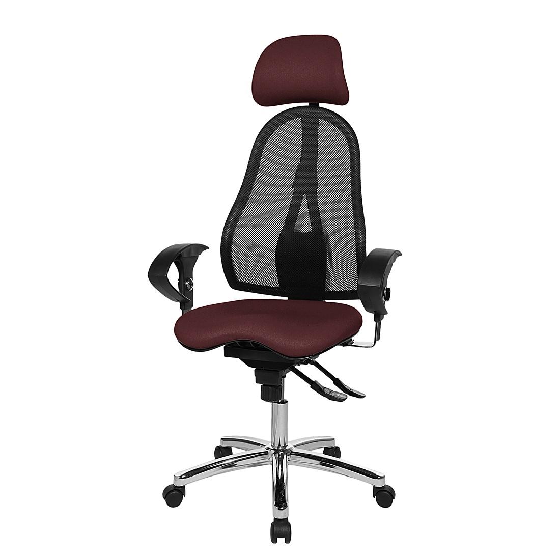 Bürodrehstuhl Sitness 45 – Schwarz / Braun, Topstar günstig online kaufen