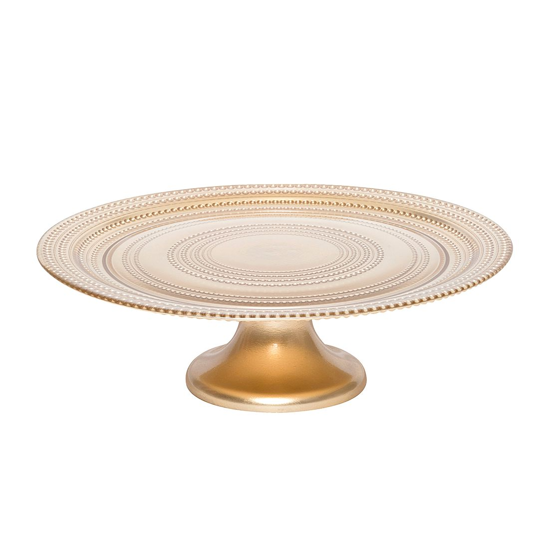 Tortenplatte Pois II – Glas – Gold, BITOSSI HOME günstig online kaufen