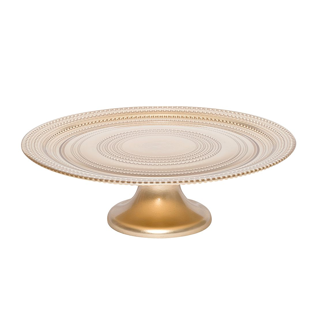 Tortenplatte Pois III – Glas – Gold, BITOSSI HOME jetzt bestellen