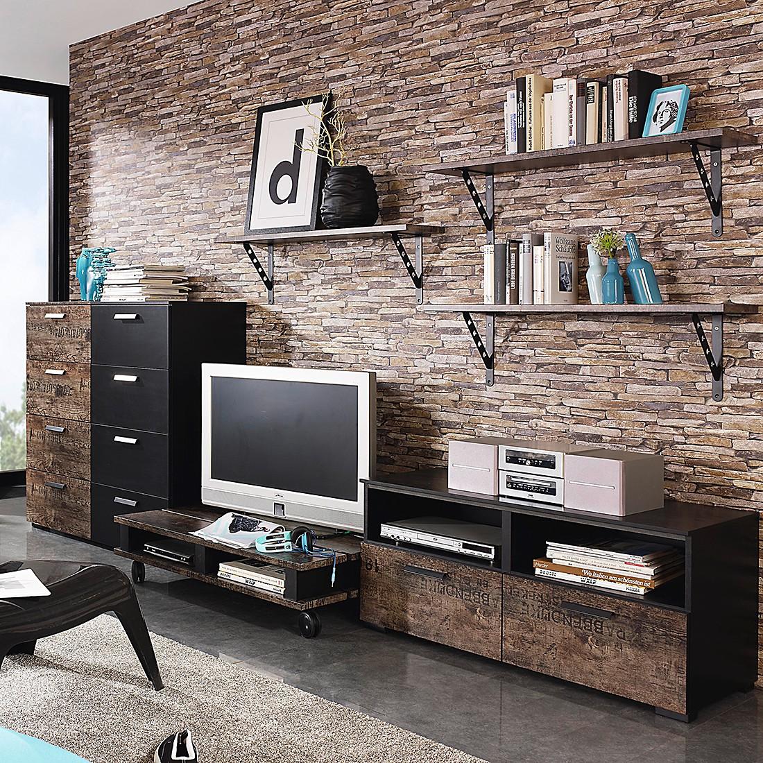rauch select tv kommode sumatra schwarz vintage braun tv. Black Bedroom Furniture Sets. Home Design Ideas