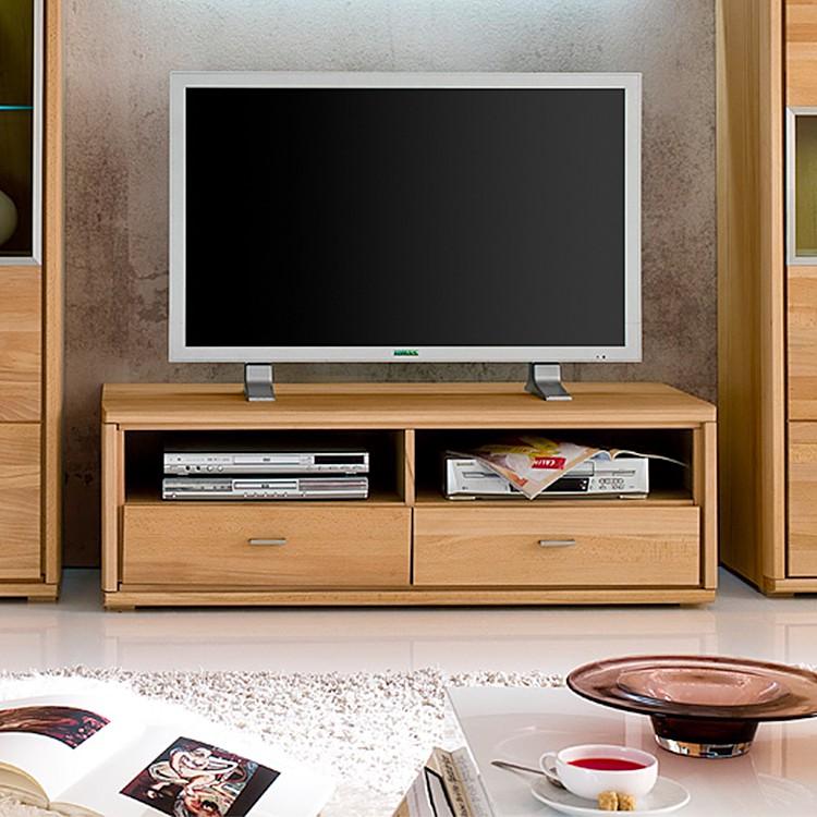 TV-Lowbard Angolo - Buche teilmassiv - geölt