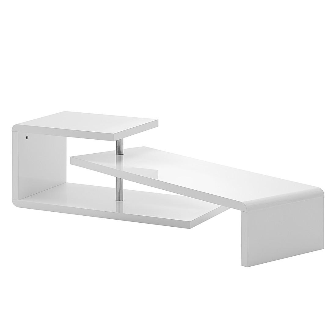 kleine meubels Tv-meubel Smethers -hoogglans wit/onbewerkt eikenhouten ...