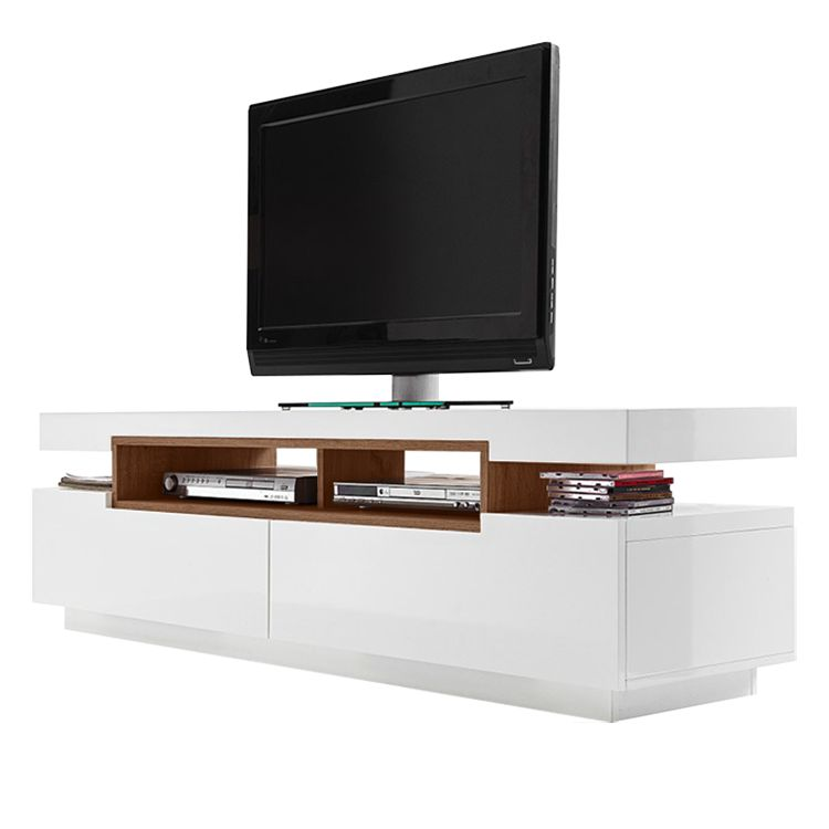 tv lowboard anna hochglanz wei walnuss dekor loftscape jetzt bestellen. Black Bedroom Furniture Sets. Home Design Ideas
