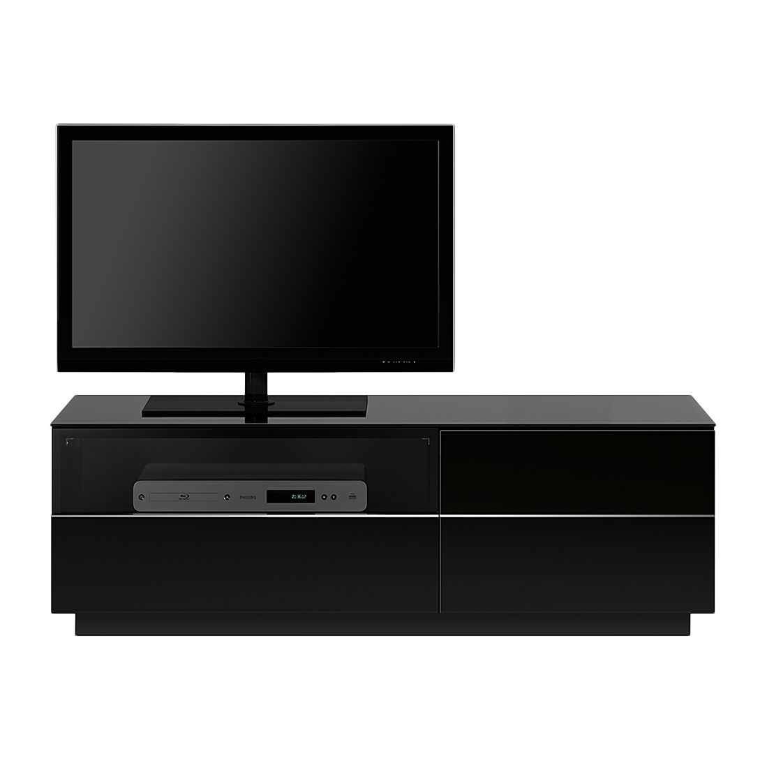 tv lowboard tl6122 hochglanz schwarz. Black Bedroom Furniture Sets. Home Design Ideas