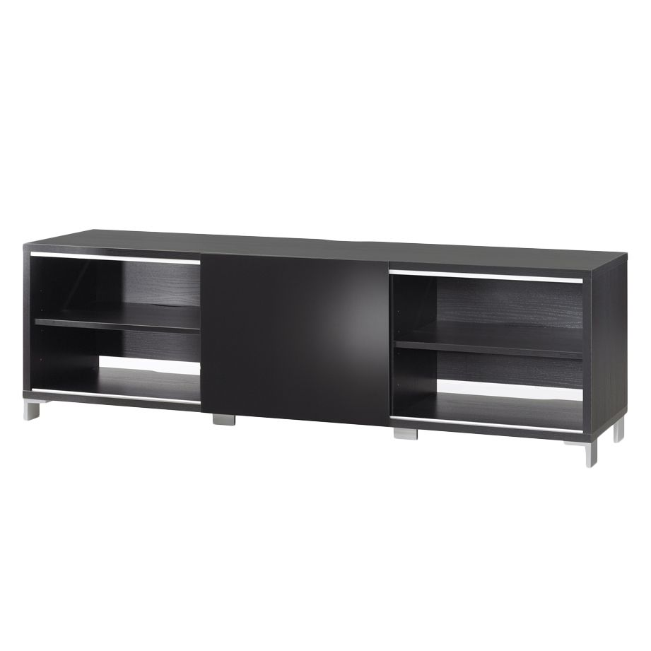 tv lowboard broziano holzdekor schwarz mit schiebet r topdesign g nstig. Black Bedroom Furniture Sets. Home Design Ideas