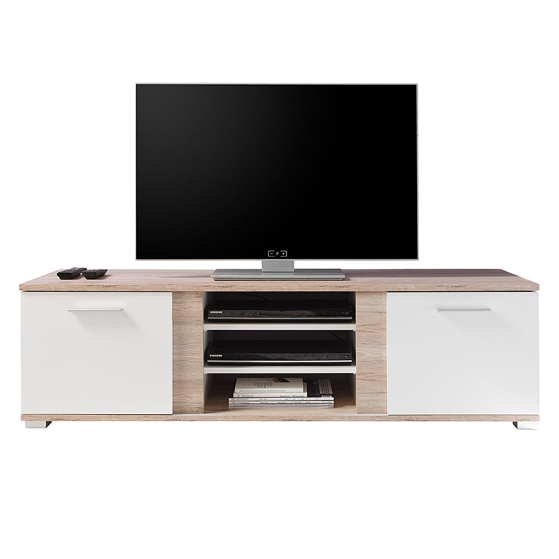 tv lowboard creston ii eiche sanremo dekor wei modoform jetzt kaufen. Black Bedroom Furniture Sets. Home Design Ideas