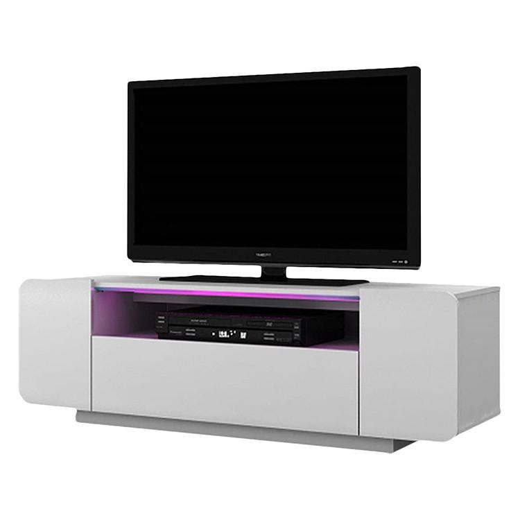 TV-Lowboard CU-Culture 130 (inkl. Beleuchtung) - Hochglanz Weiß, Jahnke