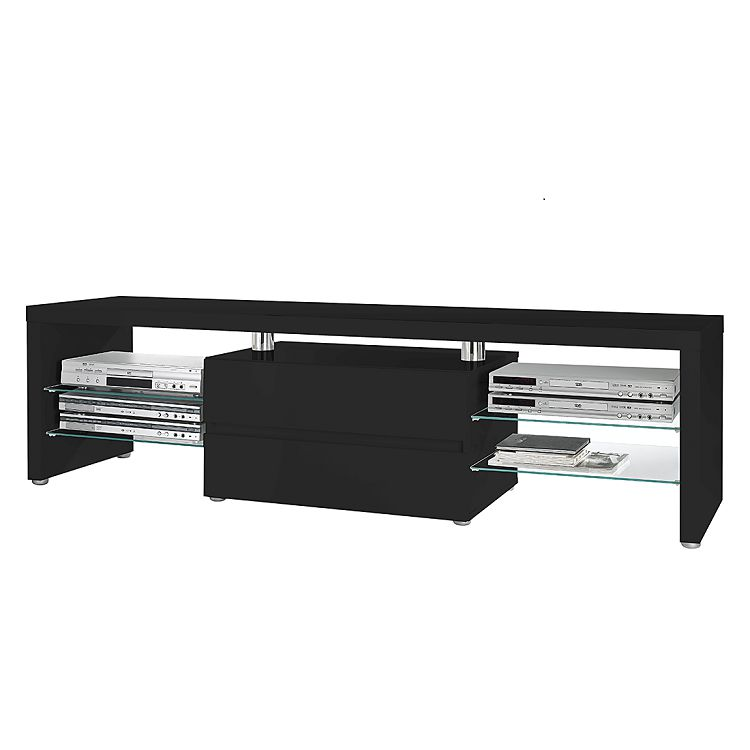 tv lowboard schwarz preis vergleich 2016. Black Bedroom Furniture Sets. Home Design Ideas
